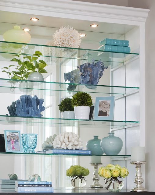 glass shelves-Emily Ruddo of Armonia Decors