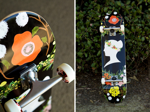 floral skateboard, house that lars built