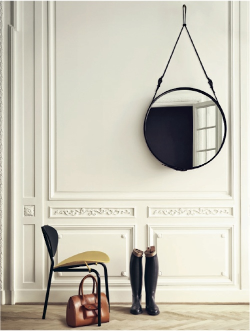 mirror + chair.