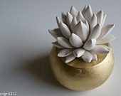 succulent sculpture, waterstone succulents,etsy2