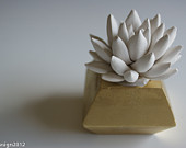 succulent sculpture, waterstone succulents,etsy3