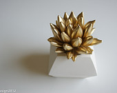 succulent sculpture, waterstone succulents,etsy4