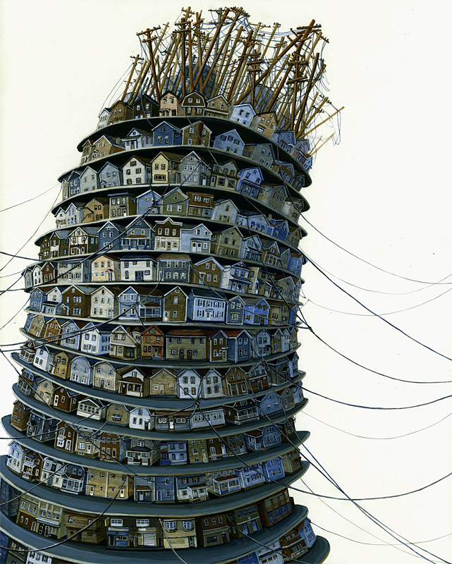 amy casey painting_tower 2012