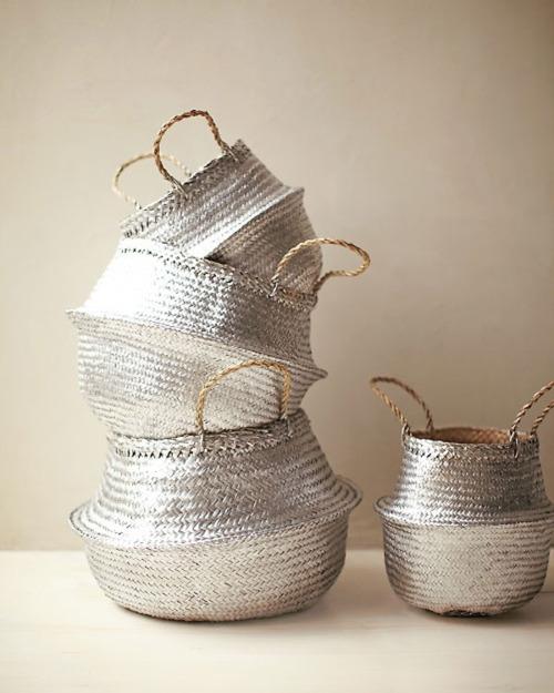 silver baskets.