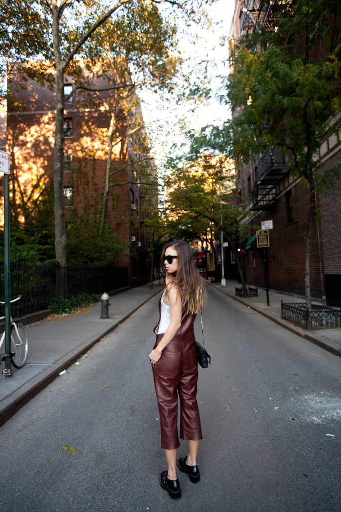 leather overalls via fashion toast