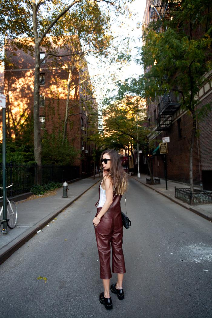 leather overalls via fashion toast