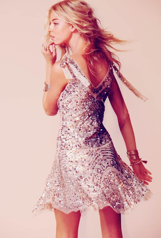 Free People Martha Hunt Sequin dress