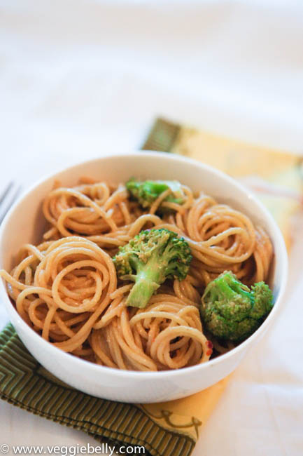 veggie belly.peanutnoodles