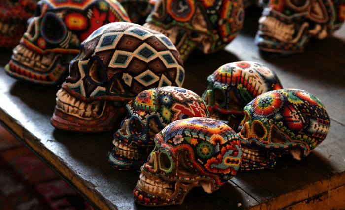 beaded skulls by Catherine Martin2