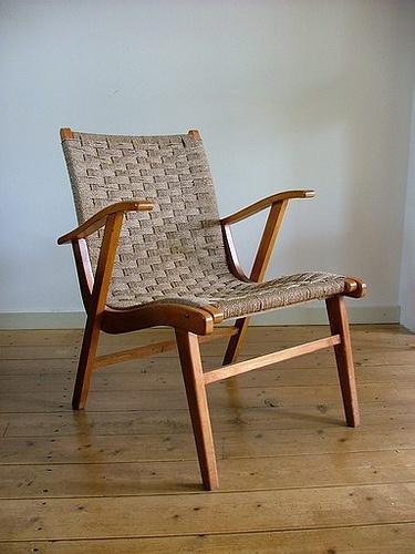 woven retro chair