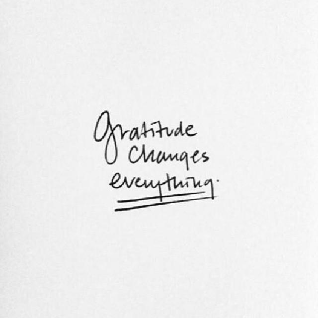 gratitude...enough