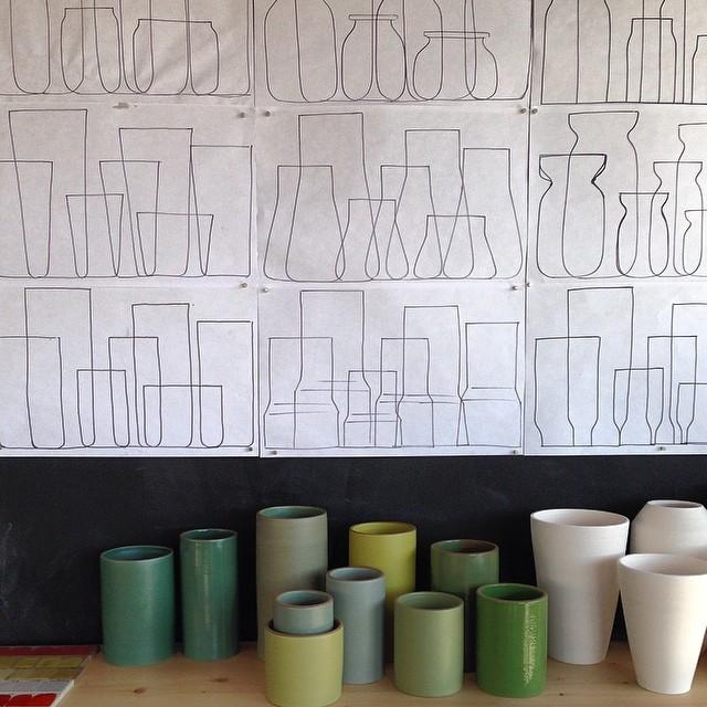 pottery sketchboard